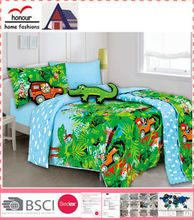 Best selling green forest pattern printed baby quilt