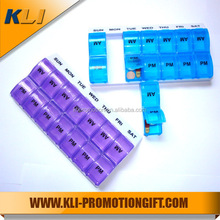New 14-compartments plastic electronic pill box with electronic reminder