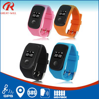 High quality emergency call kids wrist watch gps tracker for elder and kids
