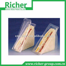 PET/PP disposable triangle clear/transparent sandwich/cake plastic food container/box/packaging