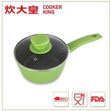 18cm forged aluminium induction milk pan with dark grey ceramic coating