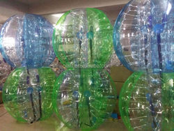 color striped inflatable bumper ball for adult TPU 1.7 m, body zorb, human bubble football