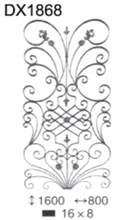 popular decorative wrought iron for fence/gate, new design ornamental wrought iron