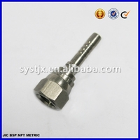 37 degree hydraulic JIC stainless steel crimped fitting