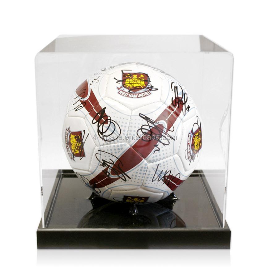 Acrylic Football Boot Display Case Plastic Football Display Stands Custom Football Display Stand Plastic