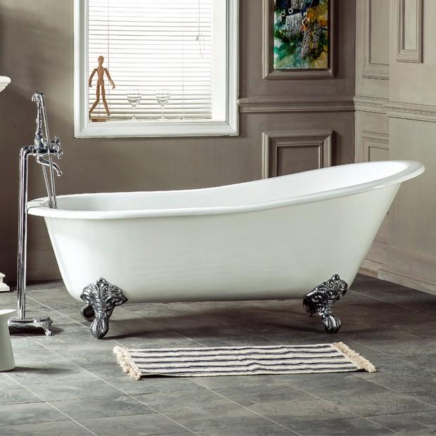Shower Tray Very Small 4 Foot White Porcelain Swim Spa Free Standing  Plastic Cast Iron Bathtub ...