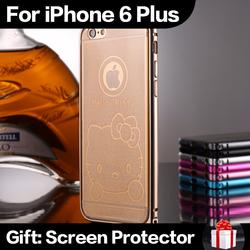 "Alloy Ultra Thin Metal Arc Hippocampal Buckle Aluminum Bumper Frame + TPU Case For iPhone 6 Plus 5.5"" Anti-Drop Cover"