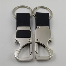 promozione elegante vera fantasia metallo pelle catena chiave supporto chiave