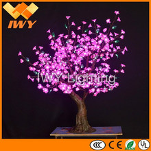Ultra Beautiful H140cm Pink Artificial LED Cherry Blossom Bonsai Tree