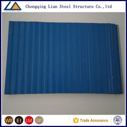 The Great Wall pattern siding panel with blue color