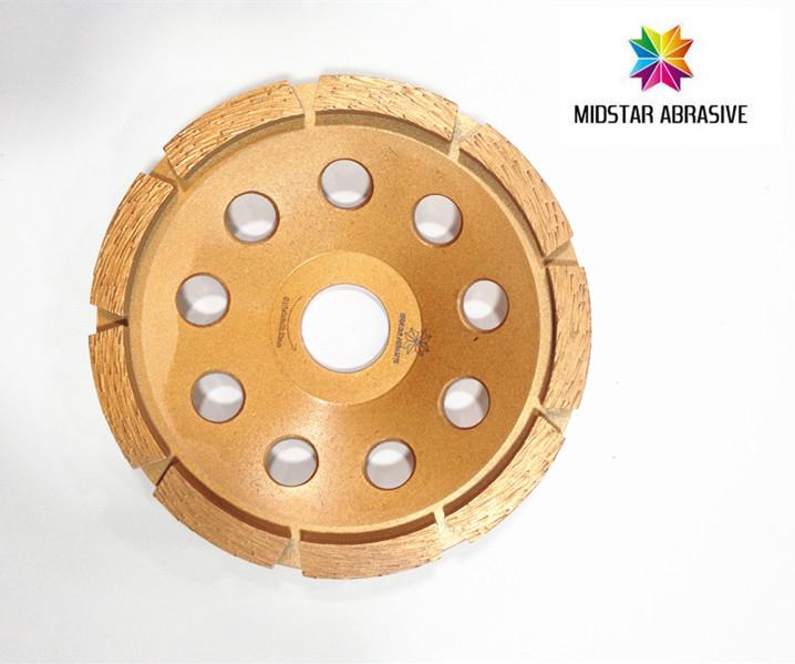 single row cup wheel
