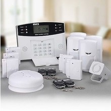 security safety protection secure indoor outdoor strobe siren flash alarming gsm intrusion alarm system