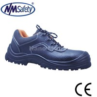 NMSAFETY European standard split leather PU sole low cut cheap work shoes safety shoes with steel toe cap