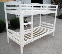 Solid wood children white beautiful bunk bed J-Y-BK007