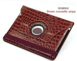 360 degree rotation PU synthetic leather with holder cover minion case for ipad 2 3 4
