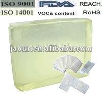 raw material/skin care safe hot melt glue(block shape)