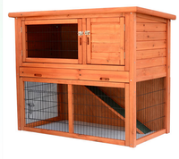 """Wood Portable Rabbit Hutch House Chicken Coop Pet Cage 46"""""""