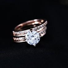 Shiny Customize Statement Wedding High Quality Diamond Single Stone Ring Quality Mood Ring