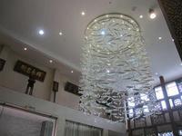 Modern fancy fish residential stair lighting