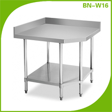 Stainless Steel Fabrication Kitchen Corner Bench Table With Upstand (900x900x950mm)