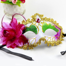 2015 Colorful flower venetian masquerade half face mask carnival dress ball eye mask sexy party mask