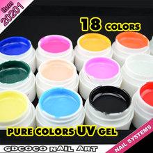 #20201W Nails art fornece doce cor 18 pcs preço barato boa quaility gel UV cor GDCOCO unha pintar