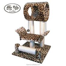 Leopard Skin Cat Tree Condo House 18W x 17.5L x 28H Inches