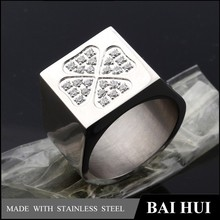 Wholesale 316L Stainless Steel Fashion Jewelry men diamond Ring