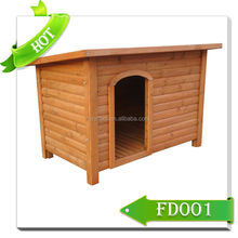 wooden dog house with green roof FD001