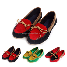 Women Boat Shoes Flat Heel Round Toe Loafers Sweet Four Seasons Casual Shoes