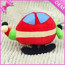 custom lovely colourful baby stuffed plush helicopter toys
