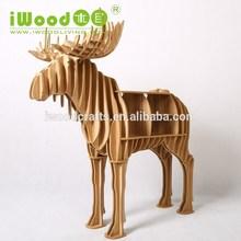 Stag forma Animal MDF muebles para el hogar decoración