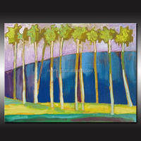 2016 Topselling Cheap Artwork Modern Wall Oil Painting Of Tree