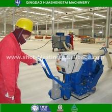 hand-push type horizontal movable floor shotblaster for road tunnel bridge surface dustless coarsen treatment