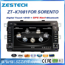 ZESTECH OEM in-dash car audio for KIA SORENTO car multimedia player with gps 3g bluetooth TV tuner