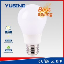 Ningbo PC+Alu e27 bulb LED light A60 e27 LED bulb erosion