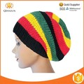 Reggae RASTA MEN & WOMEN TRETCHY hechos a mano CROCHET KNIT BAGGY BEANIE HAT