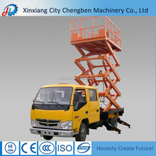 street light maintenance electric scissor lift pallet truck made in China