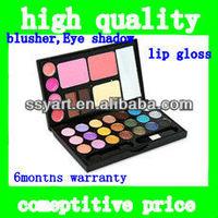 Deep blue magic color cosmetic (blusher+ pressed powder + double color eyebrow powder + lip + eye shadow)