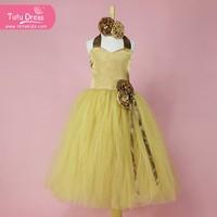 Flower Girl Dress Little Baby Girl Dress Tulle TuTu Infant Toddler Pageant Birthday Party Christening Junior Wedding