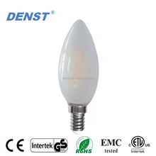 Hot Candle Lamp C35 Milky Cover Dimmable Filament LED Bulb