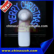 christmas ornaments usb fan led, programmable message fan, led mini fan for promotional gift