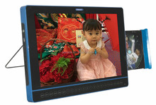 2015 year 15.1 inch high definition car dvd player with USB and LED screen and swivel screen
