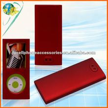 For iPod nano4 red color rubber painted rubberized crystal cover