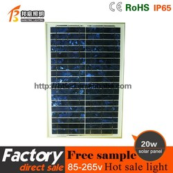 20w Polysilicon silicon solar panel Factory price,with CE RoHS TUV ISO