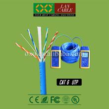 AMP Net Connect 305m 1000ft FR PVC Sheath Jacket 4PR 23AWG 0.58mm Solid Bare Copper Cat 6 UTP LAN Cable