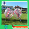 Pink color dots human plastic bubble ball giant glass bumper ball for sale