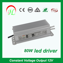 DC 12V 80w switch model power supply IP67 waterproof led driver High quality