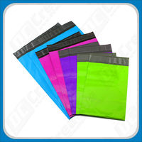 colorful courier bag / plastic envelope /white and gray poly mailer for delivery