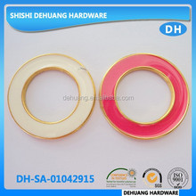 metal painting color bikini connector circle,gold swimwear accessories